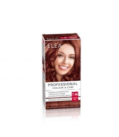ELEA Professional Colour & Care / ЕЛЕА Боя за коса Медно червен 7.46