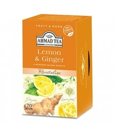 Ahmad Tea Lemon and Ginger / АХМАД ЛИМОН И ДЖИНДЖЕР ЧАЙ c филтър x 20